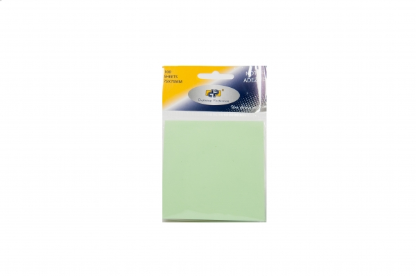 Notes adeziv 75 x 75 mm, 100 coli/set, verde pal DP Collection Office