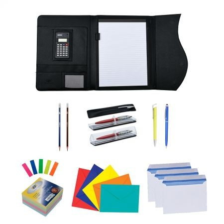 Pachet WOW profesional DP Collection MAPA PORTFOLIO GALAXY CU MAGNET, CALCULATOR SI BLOCK NOTES 0